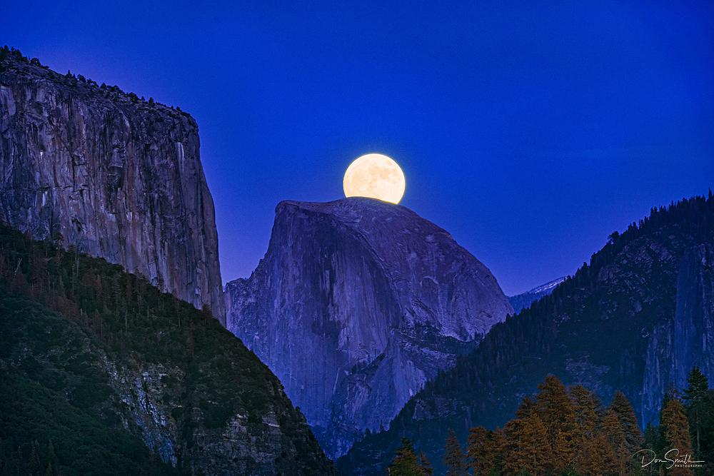 Moonrise Over Half Dome, Yosemite National Park