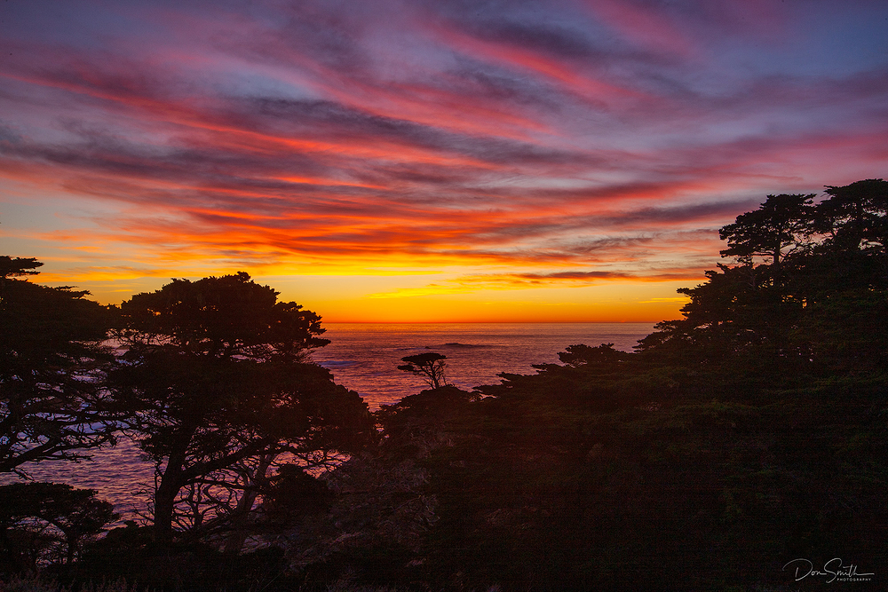 Evening Sky - Point Lobos - Carmel - California