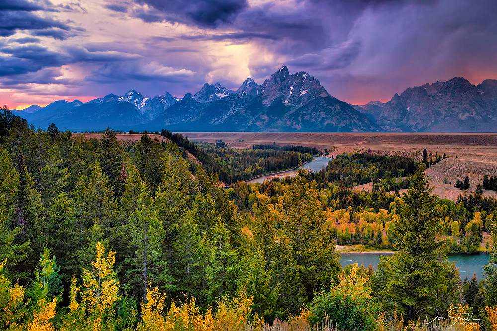 Dusk and Storm Clouds, Grand Teton NP