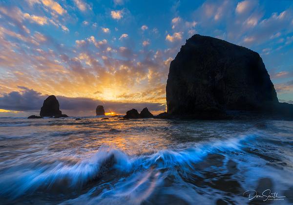 Cannon Beach and Oregon Coast Sunset