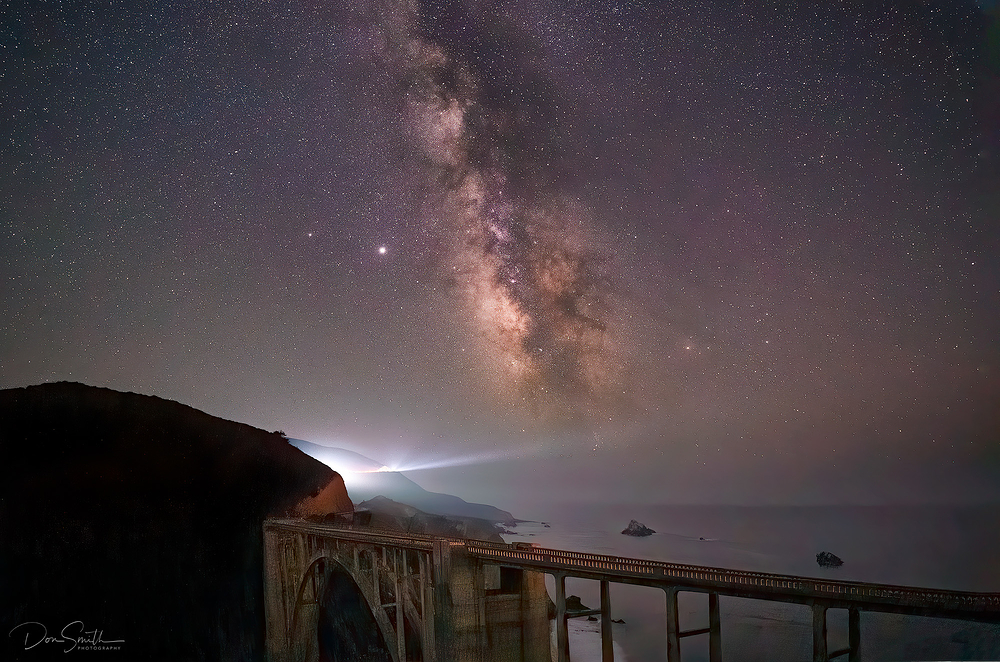 Milky Way Over Bixby Creek Bridge,  Big Sur Coast