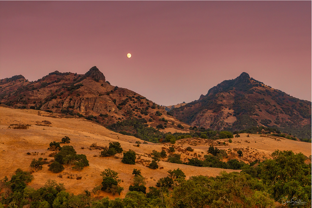 Moonrise Over Diablo Mountains,  California