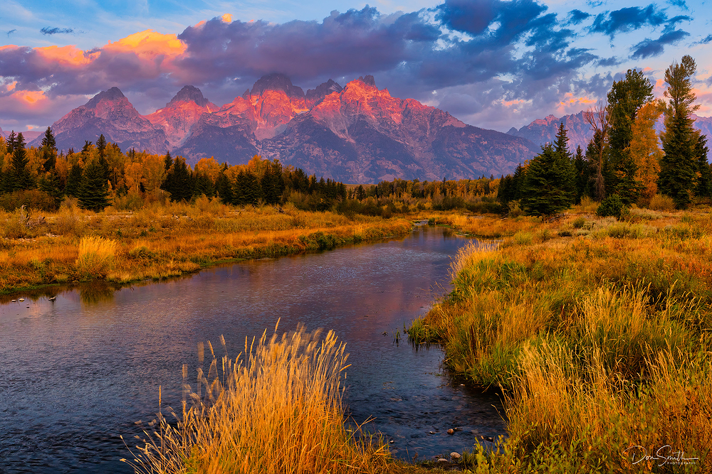 Sunrise at Schwabacher Landing, Grand Teton NP
