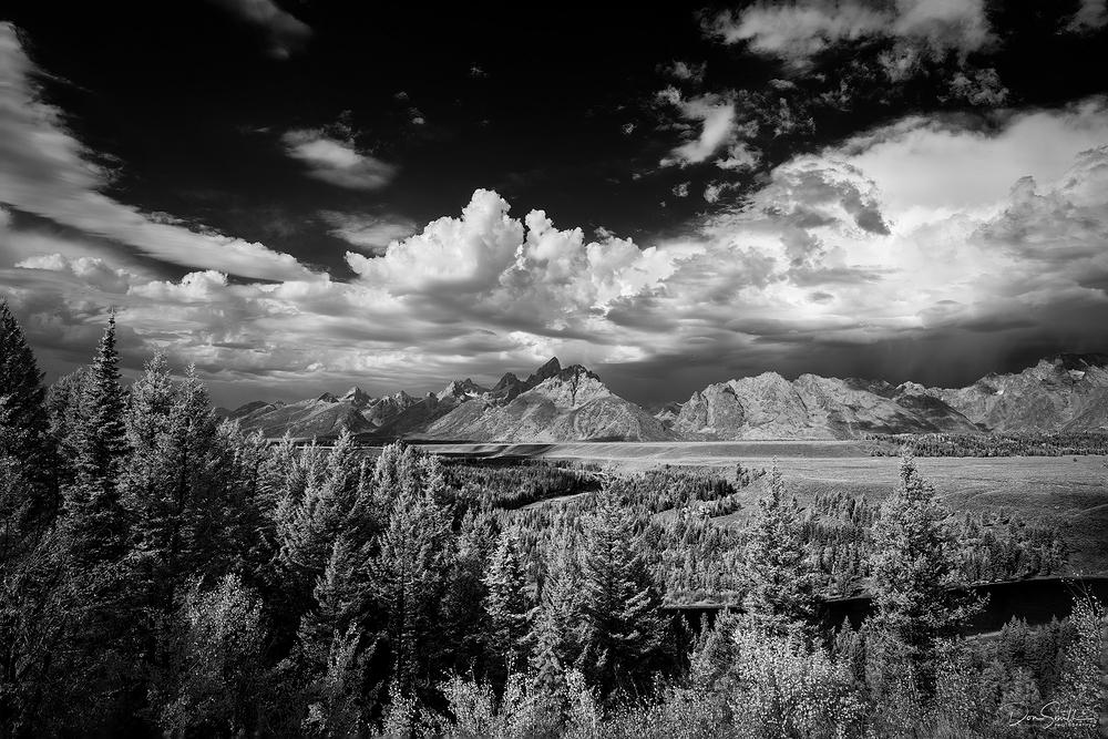 Snake River Overlook, 720nm Infrared, Grand Teton