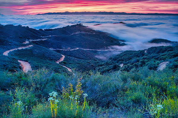 Santa Clara Valley at Dawn, California