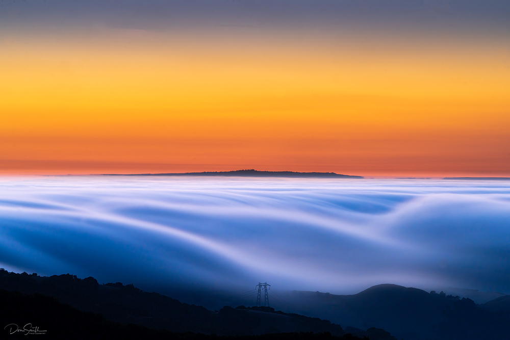 Drifting Fog Off Monterey Bay, California