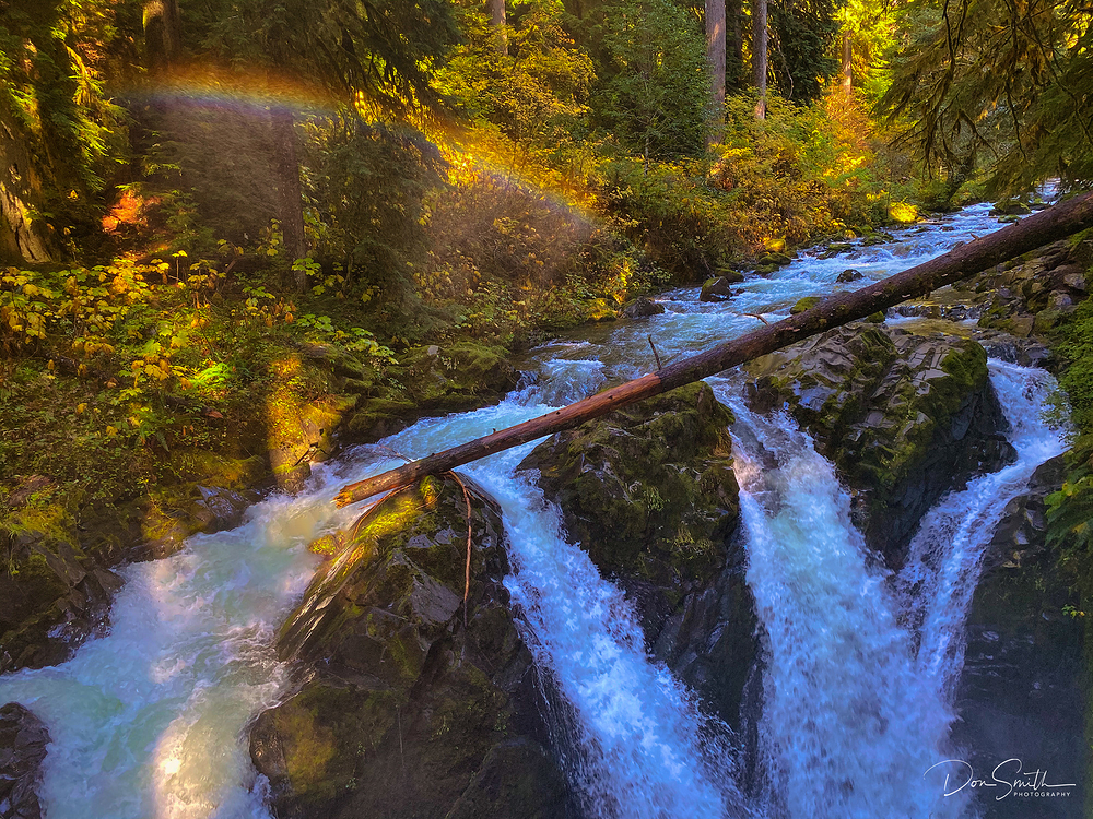 Mistbow Over Sol Duc Falls, Olympic NP