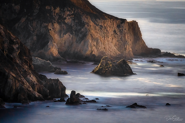 Big Sur Coast Lit By Moonlight, California
