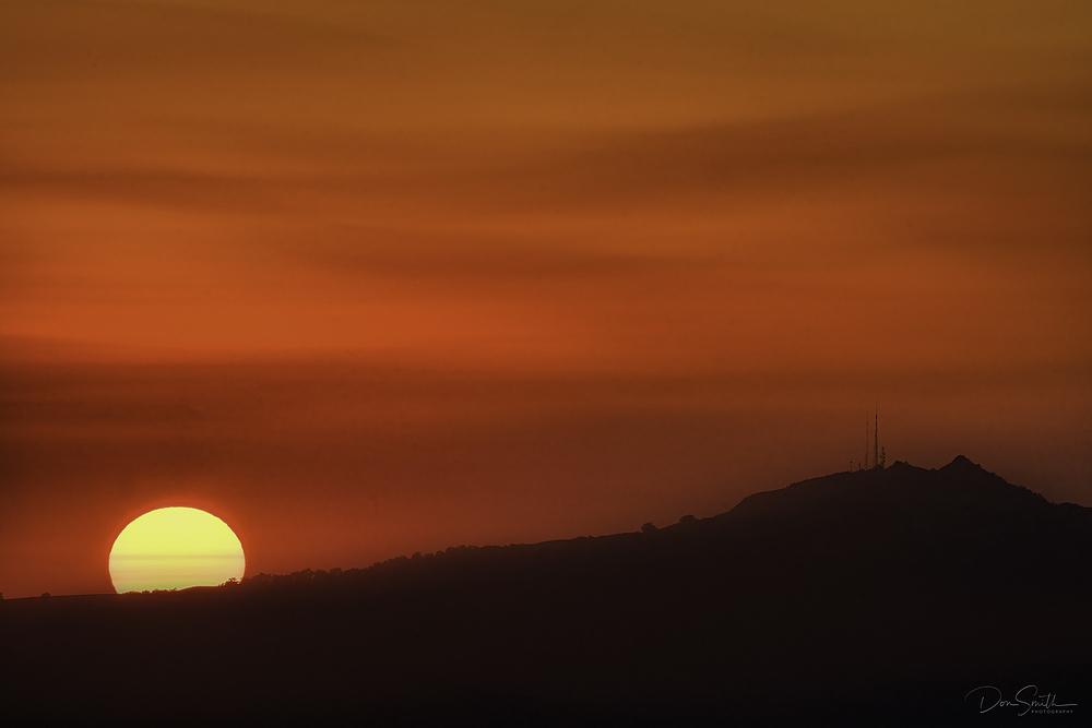 Sunset Near Fremont Peak, California