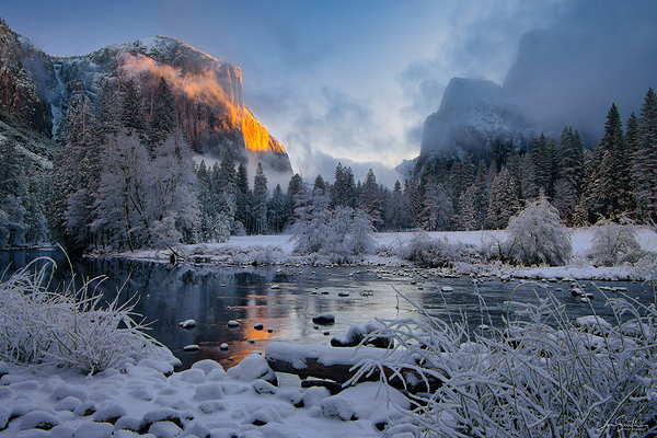 Winter Morning, Valley View, Yosemite Valley