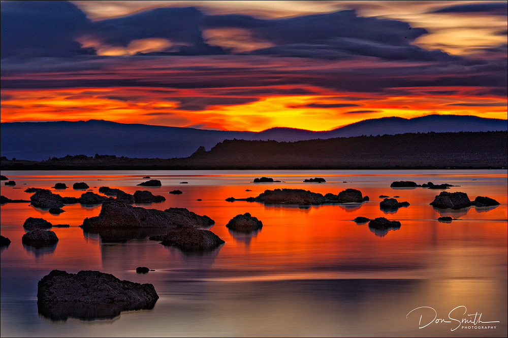 Dawn Light, Black Point, Mono Lake, California