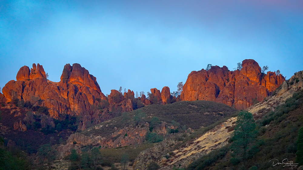 First Light on Western High Peaks, Pinnacles NP