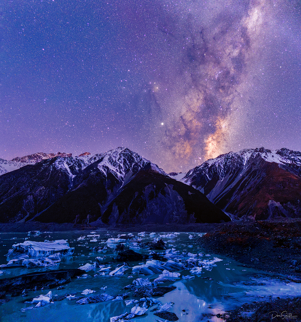 Winter Night, Mt. Cook NP, New Zealand