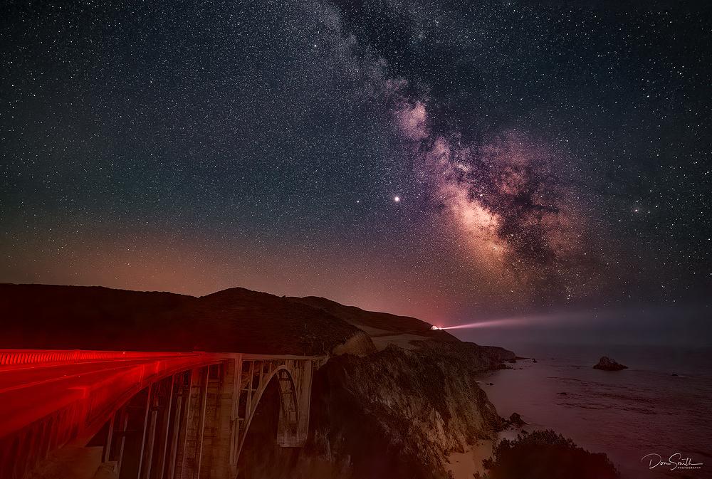 IMAGE #2 - Milky Way Over Bixby Bridge, Big Sur