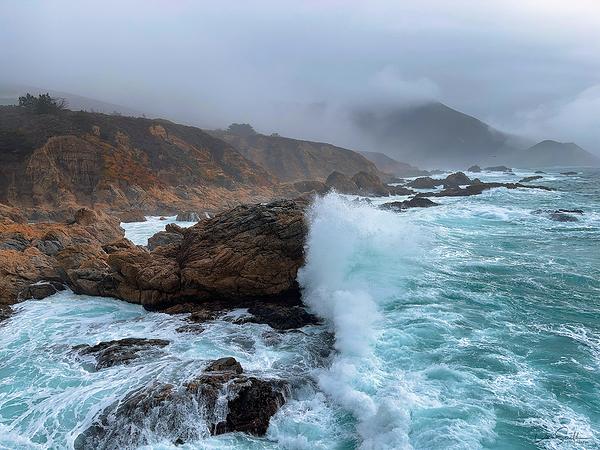 Large Waves and Storm, Big Sur Coast