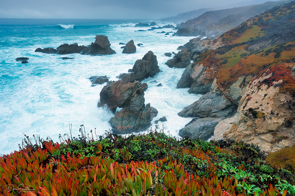 Soberanes Arch and Storm, Big Sur Coast