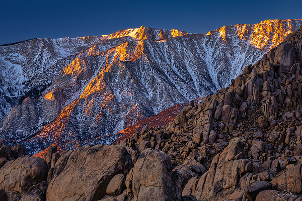 First Light of Day, Eastern Sierra Crest, CA