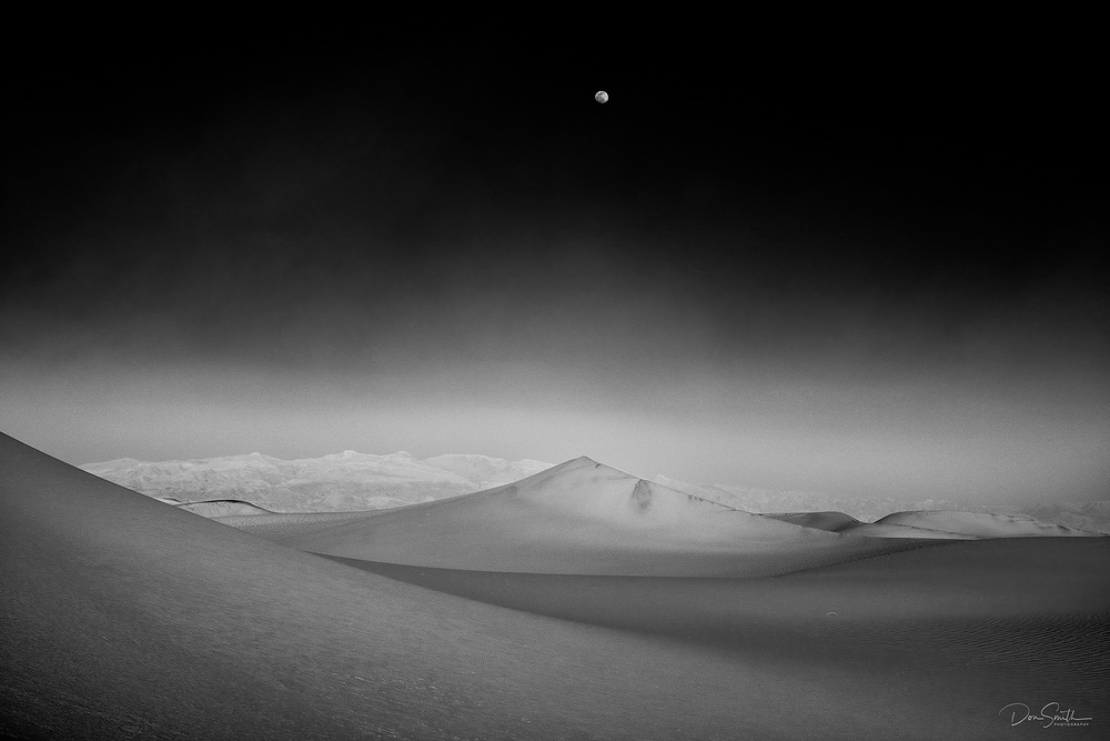 Moonrise Over Dunes, Death Valley NP