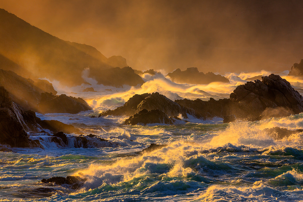 Choppy Sea at Sunrise - Big Sur Coast