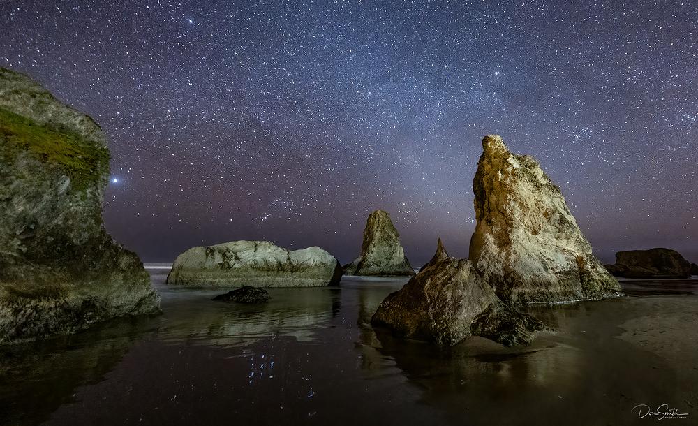 Still Night at Bandon, Oregon