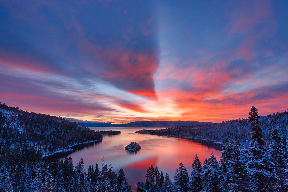Late-Season Snow at Dawn, Lake Tahoe