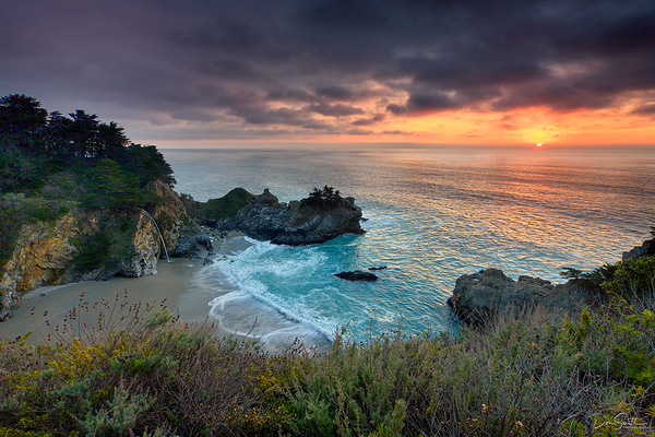 Big Sur Sunset, McWay Fall