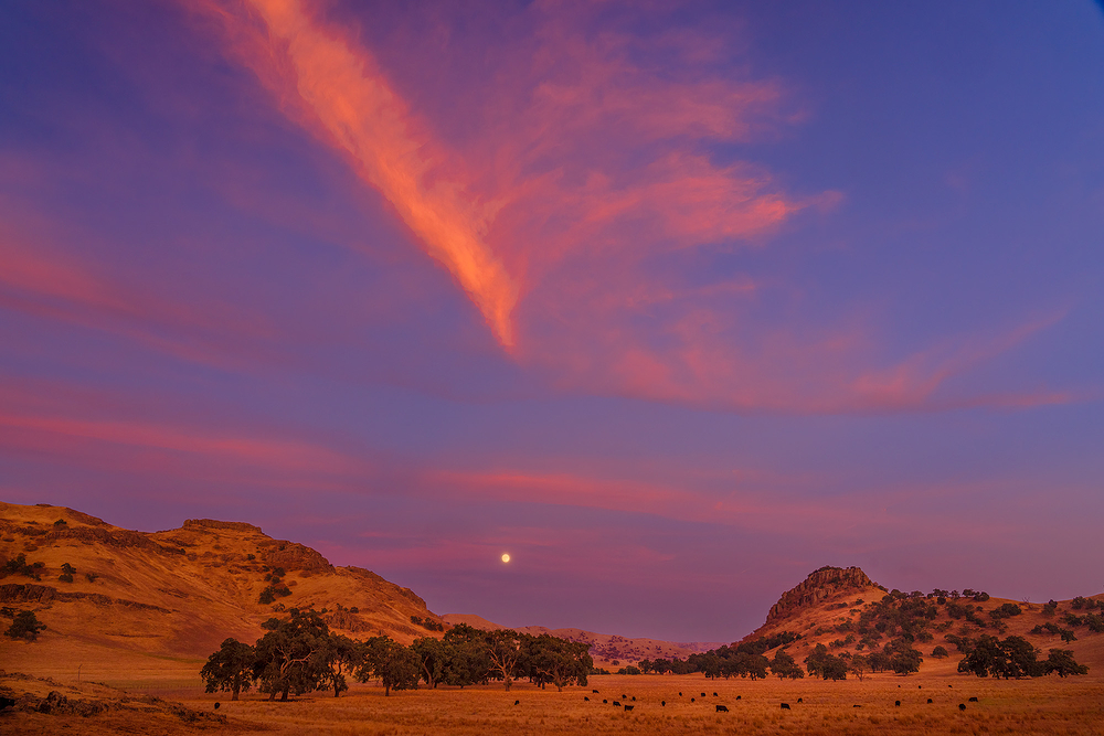 Moonrise Over Little Quien Sabe Valley, CA