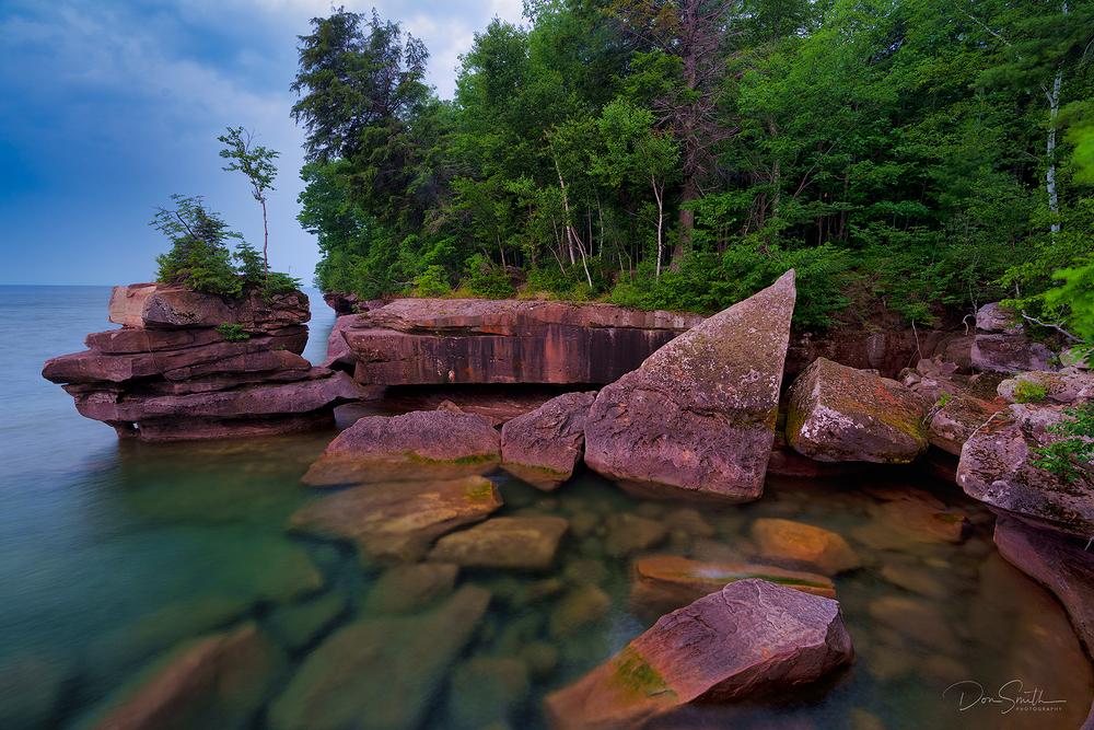 Lake Superior Shoreline, Madeline Island, WI