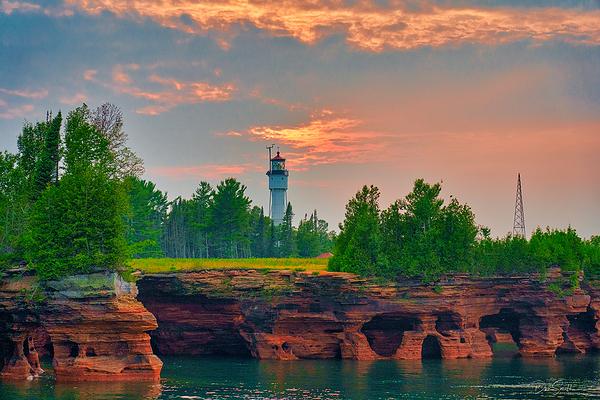 Sunset Sky Over Devil's Island, Wisconsin