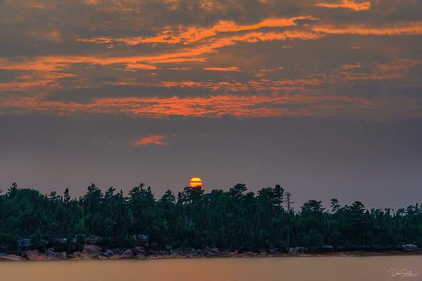 Setting Sun Over Devil's Island, Wisconsin