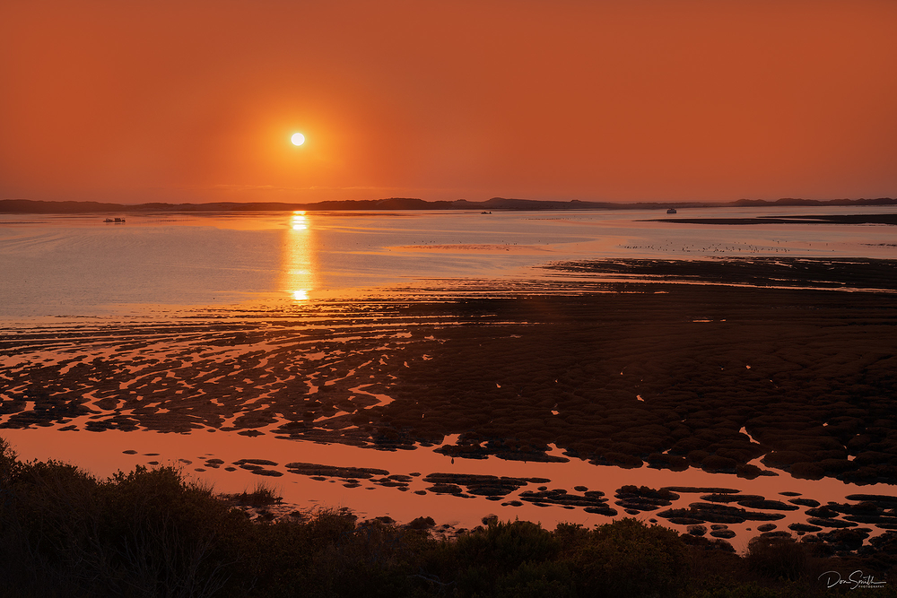 Sunset Over Morro Bay and Estuary, California
