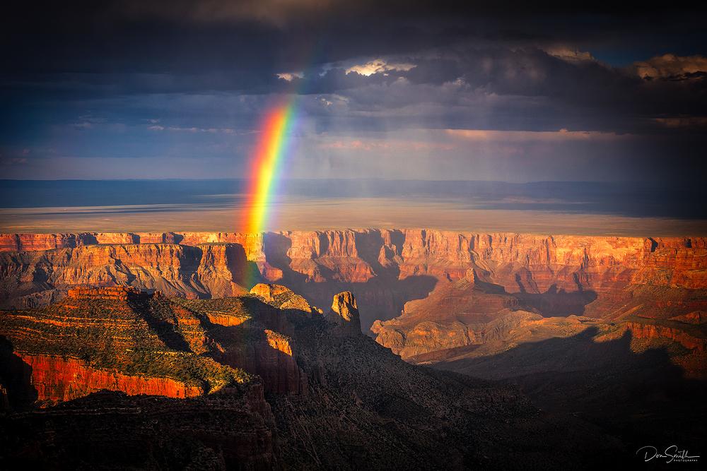 Monsoon Storm Rainbow, North Rim, Grand Canyon NP