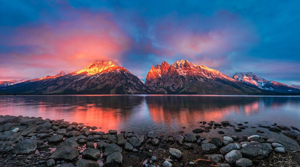 Jenny Lake Sunrise, Grand Teton NP, Wyoming