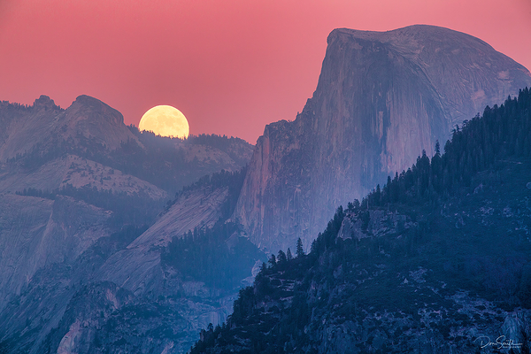 Dawn Moonrise, Half Dome, Yosemite National Park