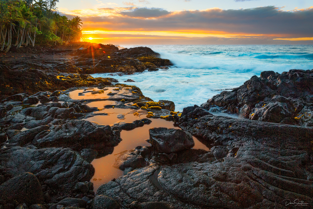 Sunrise Along the Puna Coast, Hawaii