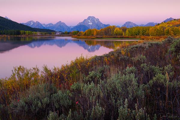 Dawn at Oxbow Bend, Grand Teton NP