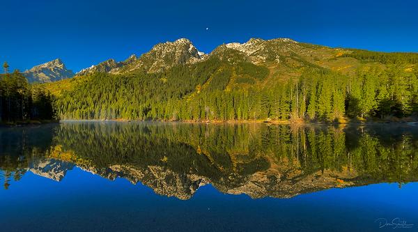 Moonset at String Lake, Grand Teton NP