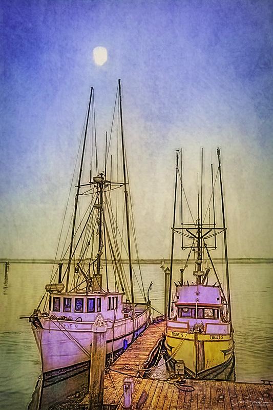 Morro Bay Photo Sketch, Central California