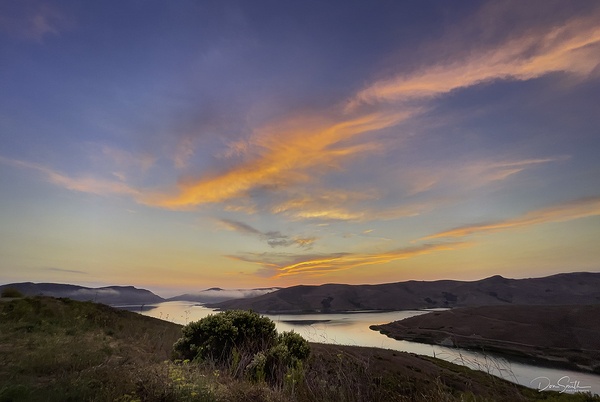 Sunset Sky Over Whale Rock Reservoir - Cayucos