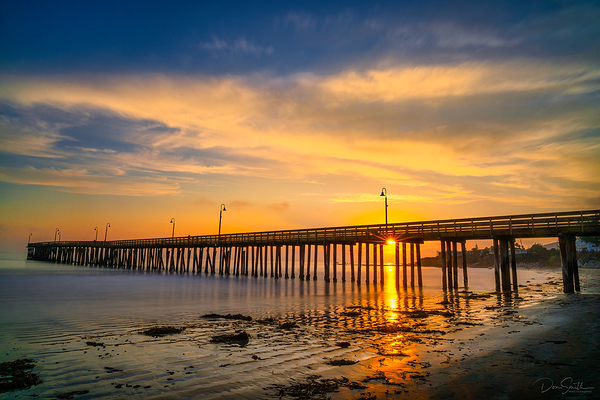 Sunset at Cayucos Pier, California