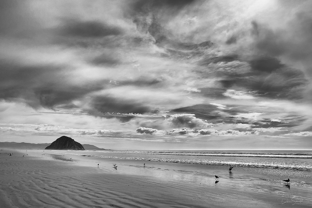 Storm Clouds Over the Strand - Morro Bay, CA