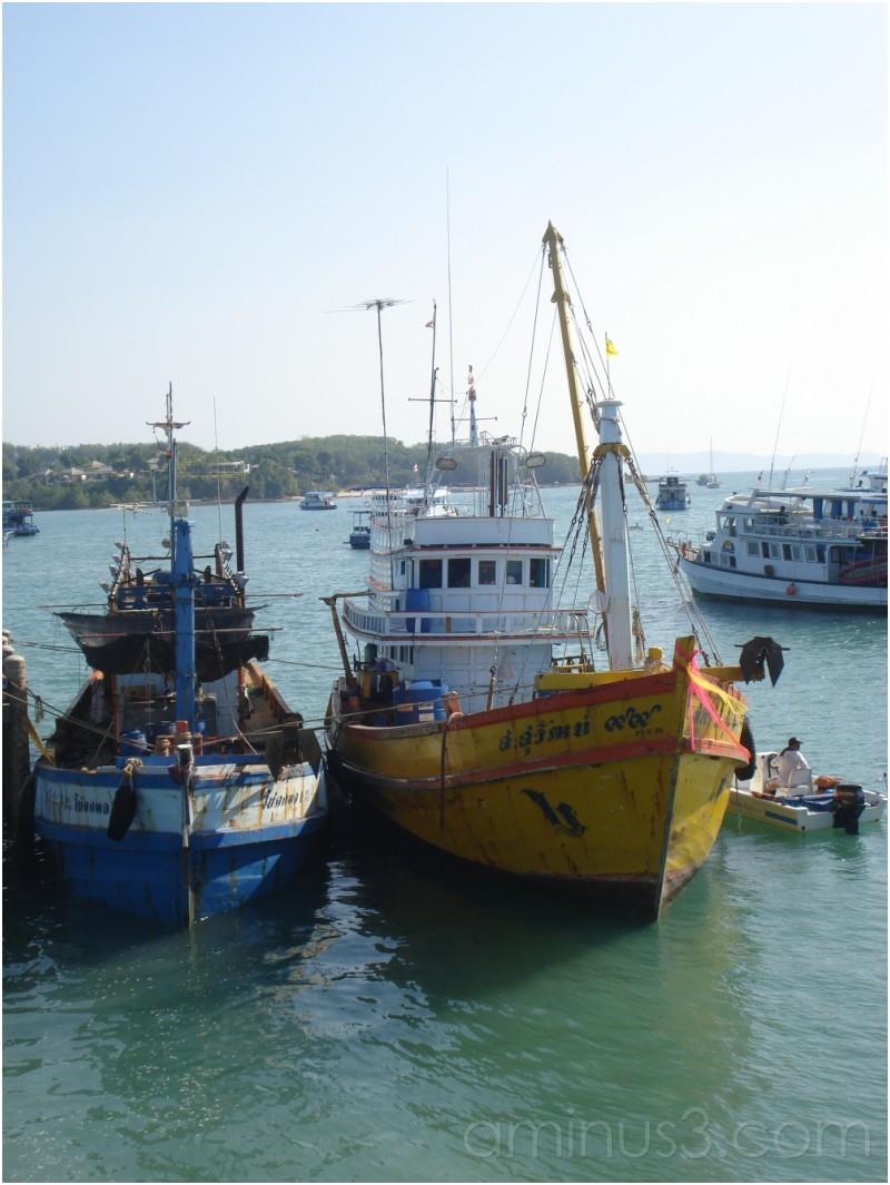 Fishing Boats at Ao Po Pier, Phuket, Thailand