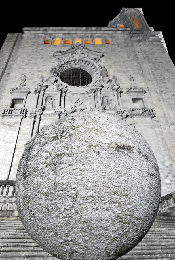 catedral girona nit nocturn