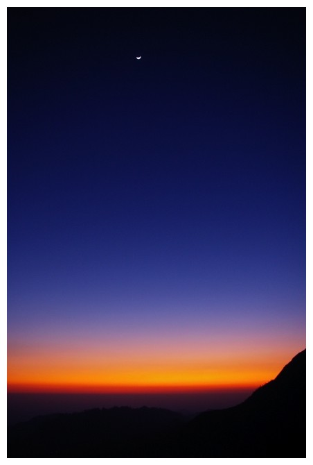 Sunset, Moon, Himalaya