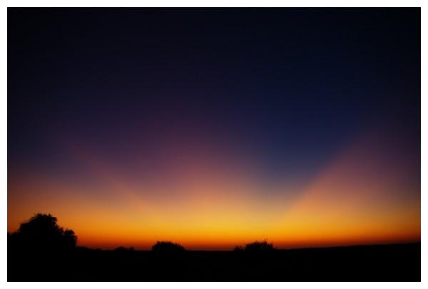 Sun Set over Thar Desert, India ...