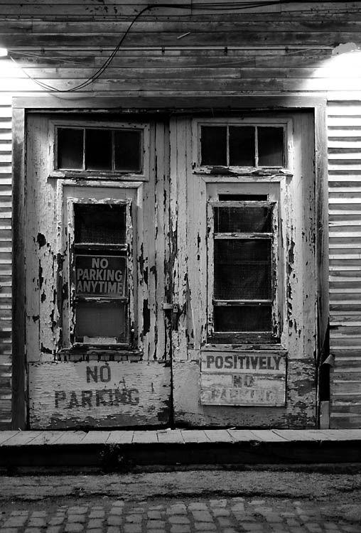 Old doors needing paint