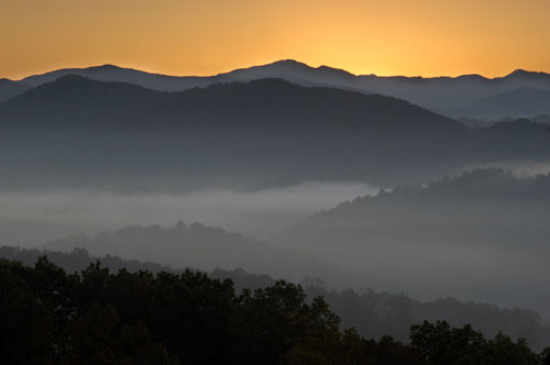 Sunrise on Foothills Parkway