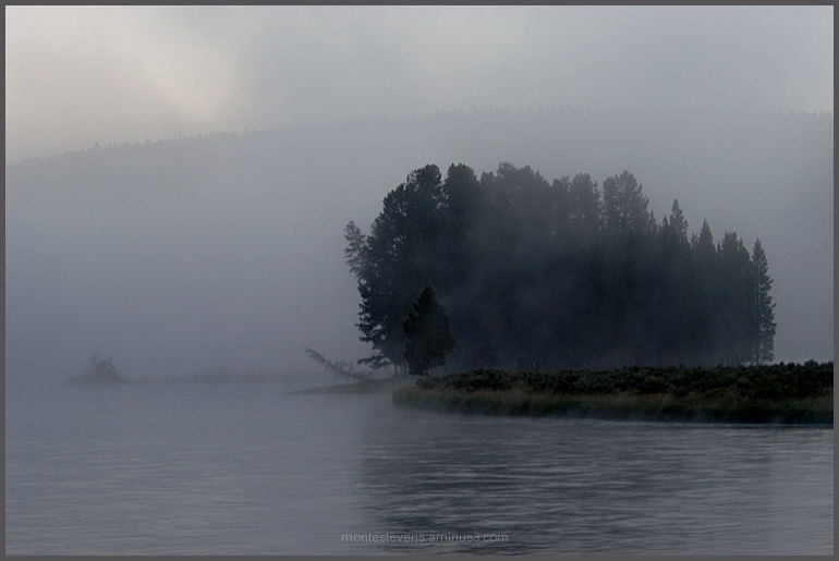 Fog along the Yellowstone River in Lamar Valley