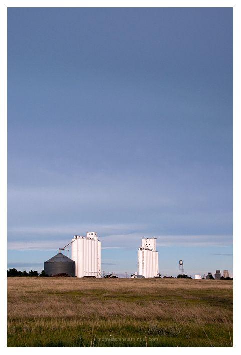 Grain elevators in Follett, Texas