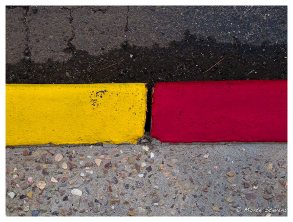 Red and Yellow Curb